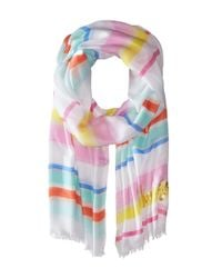 kate spade new york - Multicolor Cape Stripe Oblong Scarf - Lyst