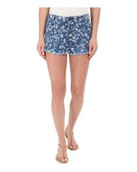 Volcom - Blue High & Waisted Shorts - Lyst