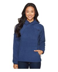 The North Face   Blue Sherpa Pullover   Lyst