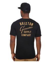 Brixton - Black Dunhill Short Sleeve Pocket Tee for Men - Lyst