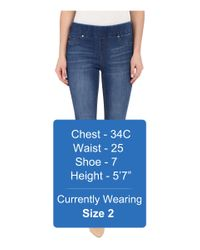 Liverpool Jeans Company - Sienna Pull-on Silky Soft Denim Ankle Jeans In Lanier Mid Blue - Lyst