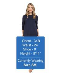 Brigitte Bailey - Blue Calin 3/4 Sleeve Dress With Pockets - Lyst