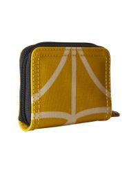 Orla Kiely - Yellow Giant Linear Stem Small Medium Zip Wallet - Lyst