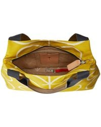 Orla Kiely - Yellow Giant Linear Stem Zip Shoulder - Lyst