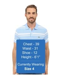 Lacoste - Blue Short Sleeve Bold Striped Pique Polo for Men - Lyst