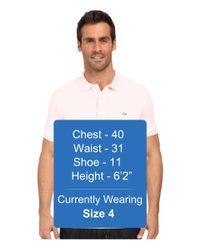 Lacoste - Brown Stretch Petit Piqué Slim Fit Polo for Men - Lyst