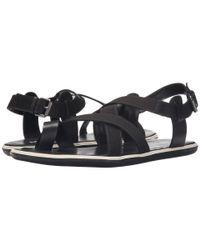 Armani Jeans - Black Sandal - Lyst