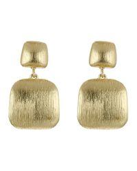 Cole Haan - Metallic Geometric Post Drop Earrings - Lyst