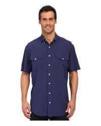 Cinch - Blue Athletic Solid Double Pocket Shirt for Men - Lyst