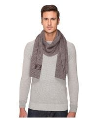 UGG | Gray Ribbed Scarf for Men | Lyst
