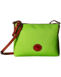 Dooney & Bourke | Green Nylon Crossbody Pouchette | Lyst