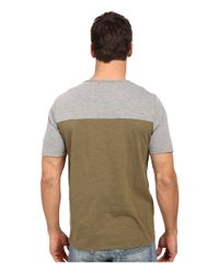 United By Blue - Gray Color Block Short Sleeve Shirt for Men - Lyst