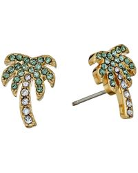 kate spade new york - Metallic Out Of Office Palm Tree Studs Earrings - Lyst