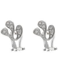 Miseno | Metallic Sea Leaf Diamond Stud Earrings | Lyst