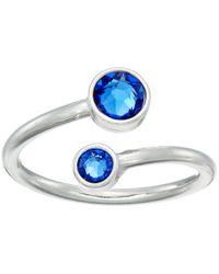 ALEX AND ANI | Blue Birthstone Ring Wrap | Lyst