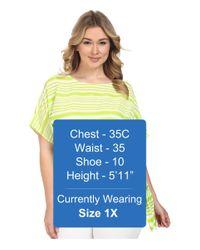 MICHAEL Michael Kors - Multicolor Plus Size Boca Tie Top - Lyst