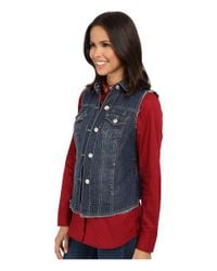 Scully - Blue Krista Denim Vest - Lyst