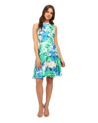 Donna Morgan | Multicolor Floral Sleeveless Fit-and-flare Dress | Lyst