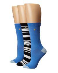 kate spade new york   Blue 3-pack Trouser Socks   Lyst