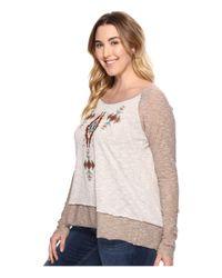 Roper - Multicolor Plus Size 0569 Heather Slub Jersey Top - Lyst
