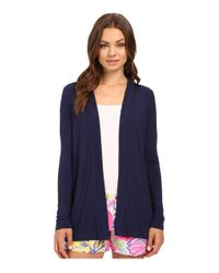 Lilly Pulitzer - Blue Blithe Cardigan - Lyst