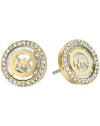 Michael Kors - Metallic Logo Earrings - Lyst