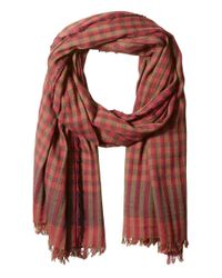 Scotch & Soda | Red Gentleman's Scarf In Lightweight Cotton Quality With Herringbone Patterns for Men | Lyst