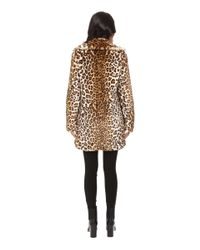 Calvin Klein | Blue Faux Fur With Button Closure | Lyst