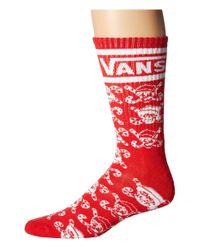 Vans - Red Holiday Crew Socks for Men - Lyst