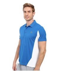 Lacoste - Blue T1 Short Sleeve Ultra Dry Color Block for Men - Lyst