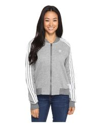 Adidas Originals | Gray Drawcord Track Top | Lyst