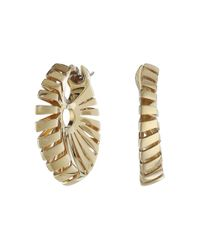 Miseno | Metallic Ventaglio 18k Gold Earrings | Lyst