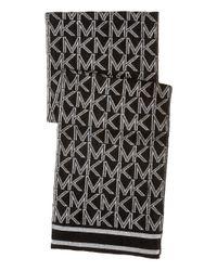 MICHAEL Michael Kors - Black Muffler With Metallic Logo - Lyst