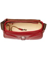 Dooney & Bourke - Red Florentine Small Saddle Bag - Lyst