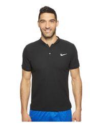Nike | Black Court Advantage Modern Fit Tennis Polo for Men | Lyst