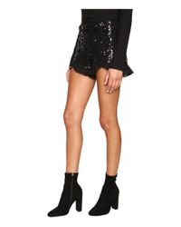 Jack BB Dakota - Black Cristo Sequin Knit Shorts - Lyst