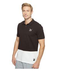 PUMA | Black Archive Logo Polo for Men | Lyst