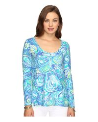 Lilly Pulitzer | Blue Sorella Top | Lyst