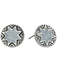 House of Harlow 1960 | Metallic Enameled Engraved Mini Sunburst Stud Earrings | Lyst
