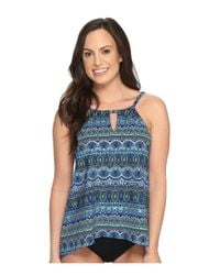Miraclesuit | Blue Rockin' Moroccan Peephole Tankini Top | Lyst