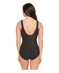 Miraclesuit - Black Pin Point Oceanus One-piece (dd-cup) - Lyst