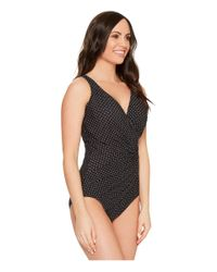 Miraclesuit | Black Pin Point Oceanus One-piece (dd-cup) | Lyst