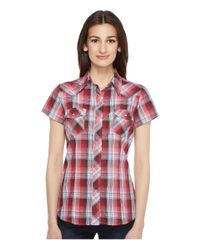 Roper - Red 0926 Cranberry Plaid W/ Silver Lurex - Lyst
