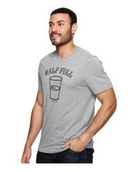 Life Is Good. - Gray Half Full Arc Crusher Tee for Men - Lyst