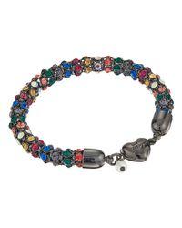 Betsey Johnson - Blue Multi Hematite Heart Magnet Bracelet - Lyst