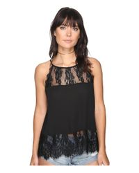 BB Dakota | Black Yasmine Lace Detailed Tank Top | Lyst