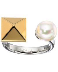 Majorica | White Why Not? Two-tone Ring | Lyst