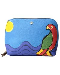 Tory Burch | Blue Kerrington Parrot Cosmetic Case | Lyst