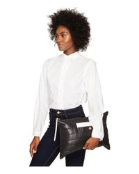 """kate spade new york Black 22"""" Quilted Contrast Binding Jacket"""