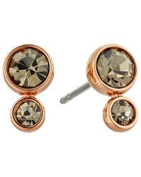 Fossil - Gray Glitz Steel Earrings - Lyst